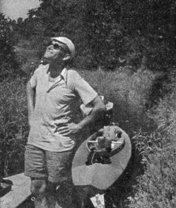 Karol Wojtyła podczas spływu kajakowego