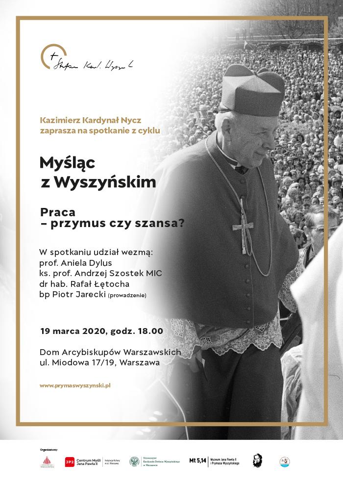 Plakat Myśląc z Wyszyńskim