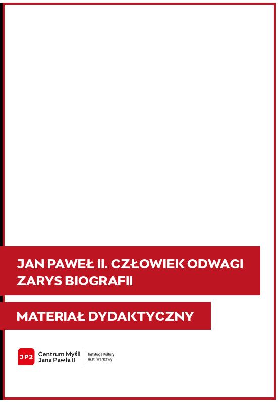 Okładka zarysu biografii Jana Pawła II