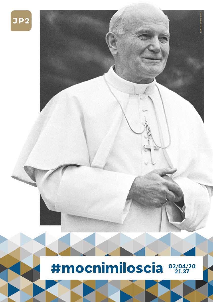 plakat ze zdjęciem Jana Pawła II