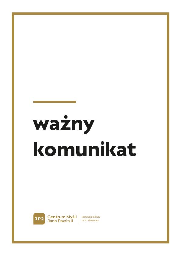 plakat z napisem ważny komunikat