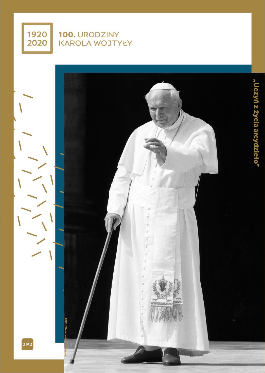 plakat 100. urodziny Karola Wojtyły