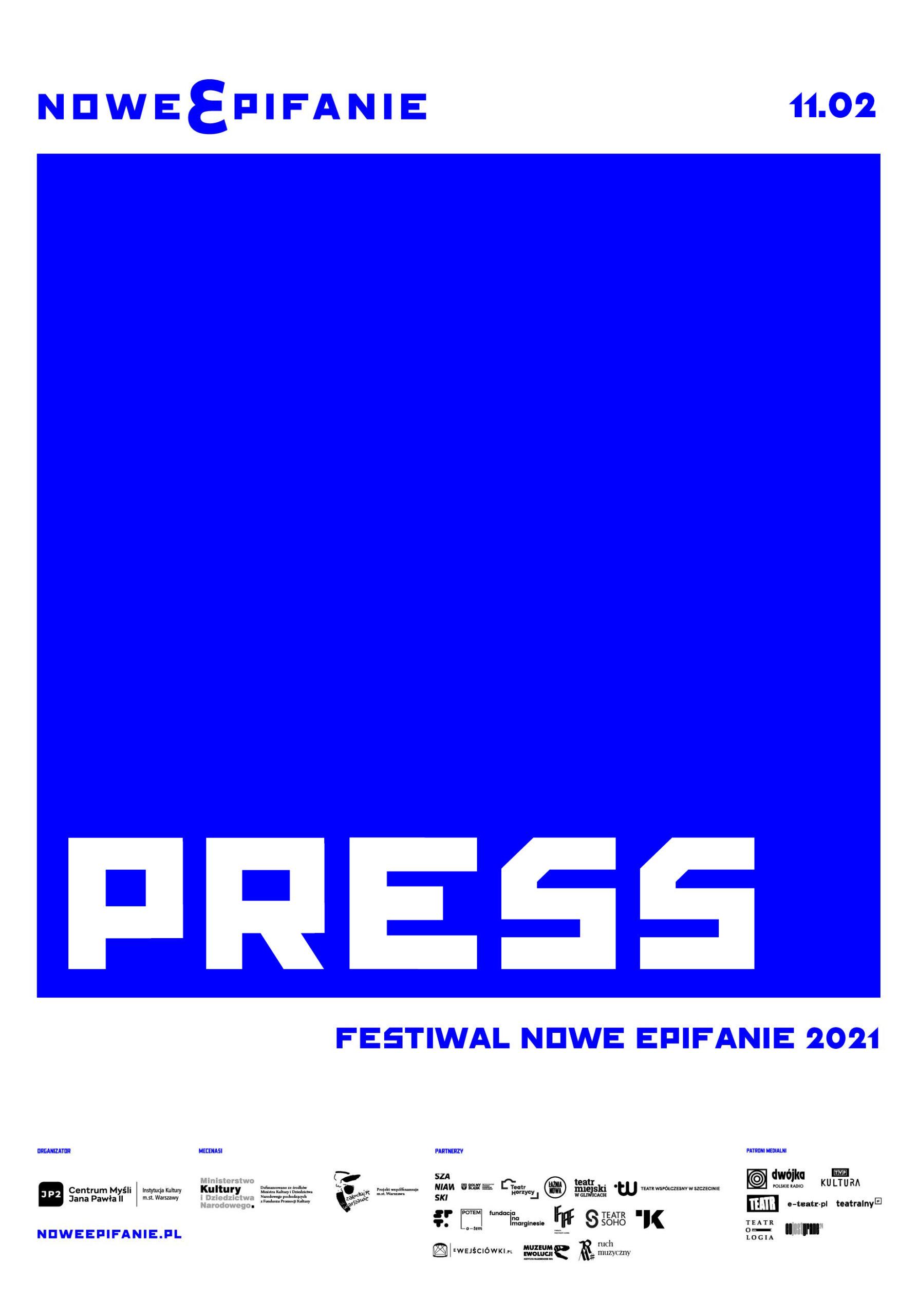"plakat z napisem ""press"""
